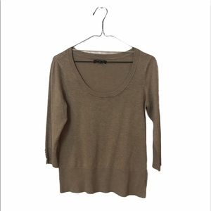 George Women's Top Knit Tan Size Small